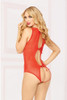 STM-10863, Lace with Keyhole Back Teddy