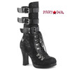 Crypto-61, 4 Inch Open Calf Lace Mid Calf Boots Women's Demonia