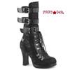Crypto-61, 4 Inch Open Calf Lace Mid Calf Boots Women's Demonia