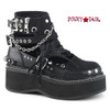 Emily-317, 2 Inch Platform Buckle Strap Ankle Bootie