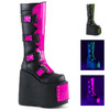 Slay-310, 7 Inch Platform Boots with Interchangeable Panels Demonia Boots