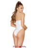 Roma | R- 3564, Rave High Cut Romper color white back view