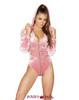 Roma | R- 3576, Rave Velvet Hooded Bodysuit