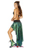 R-3591, Sequin Shorts with Attached Skirt