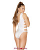 Roma | R-3561, Strappy and Lace-up Romper Color white back view