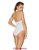 Roma | R-3562, Two-Tone Sequin Romper Color White back view