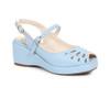 BP242-Faye, 2 Inch Peep Toe Wedge color blue