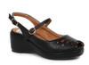 BP242-Faye, 2 Inch Peep Toe Wedge color black