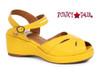 BP242-Niley, 2 Inch Peep Toe Wedge Sandal color yellow