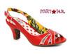 Red BP250-Cara, 2 Inch Peep Toe Sling Back Sandal