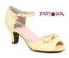 Yellow BP250-Tegan, 2 Inch Peep Toe Sandal with Bow