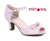 Lavender BP250-Tegan, 2 Inch Peep Toe Sandal with Bow