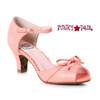 Peach BP250-Tegan, 2 Inch Peep Toe Sandal with Bow