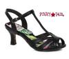 Black BP300-Layla, 3 Inch Peep Toe T-Strap Sandal