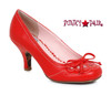 BP310-Rayna, 3 Inch Pump with Bow Detail color red