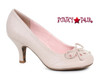 BP310-Rayna, 3 Inch Pump with Bow Detail color nude