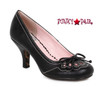 BP310-Rayna, 3 Inch Pump with Bow Detail color black