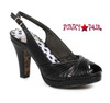 BP401-Selene, 4 Inch Ruched Peep Toe Sandal color black