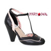 BP403-Annalise, 4 Inch Chunky Heel T-Strap Sandal color black