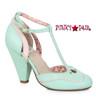BP403-Annalise, 4 Inch Chunky Heel T-Strap Sandal color mine/teal