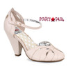 BP403-Sally, 4 Inch Chunky Heel Ankle Strap Sandal color Nude