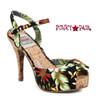 BP412-Leni, 4 Inch Cork Heel Sandal with Floral Print