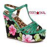 BP475-Mallory, 4 Inch Tiki Wedge color green
