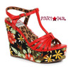 BP475-Mallory, 4 Inch Tiki Wedge color red