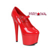 Red 709-DOM, 7 Inch Stiletto Heel Mary jane Shoes