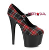 Plaid 709-DOM, 7 Inch Stiletto Heel Mary jane Shoes Color