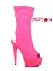 Fuchsia 609-Stacy, 6 Inch Open Toe/Back Mid-Calf Boots