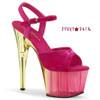 Adore-709MCT, Tint Platform Sandal Color Pink Crushed Velvet/Dual Tinted