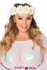 JV-FF200, Light-up Daisy Crown Multi Color One Size