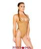 J. Valentine | Faux Suede Bodysuit Rave Wear JV-FF190 color honey