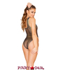 J. Valentine | Coated Mesh Bodysuit Rave Wear JV-FF133 color black opal back view