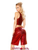 J. Valentine | Metallic Tank Top Rave Wear JV-FF161 color raspberry back view