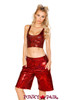 J. Valentine | Metallic Tank Top Rave Wear JV-FF161 color raspberry