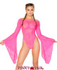J. Valentine | Cyclone Lace Long Sleeve Gypsy Bodysuit JV-FF112 Color Pink