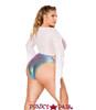 J Valentine | Gypsy Top Rave Wear JV-FF118 color White back view