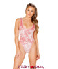 J Valentine | Crushed Velvet Bodysuit Rave Wear JV-FF130 color rose