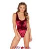 J Valentine | Crushed Velvet Bodysuit Rave Wear JV-FF130 color burgundy