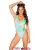 J Valentine | Crushed Velvet Bodysuit Rave Wear JV-FF130 color pastel tie die