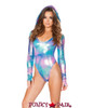 J Valentine | Holographic Bodysuit Rave Wear JV-FF124 color Cotton kandi