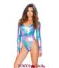 J Valentine | Holographic Bodysuit Rave Wear JV-FF124 color Cotton kandi
