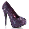 Bordello | Teeze-06R, Platform Rhinestones Pump Color Berry