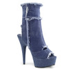 Denim Cutout Ankle Boots Pleaser Boots | Delight-1030