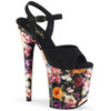 Pleaser Shoes | Flamingo-809WR, Suede/Flower Print Wrapped