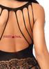 Leg Avenue | LA89215, Strappy Rose Lace Bodystocking back view close up