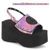 Demonia Women | Funn-32, Pink Platform Sandal with Slingback