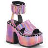 "Camel-102, Pink 5"" Chunky Ankle Strap Platform Sandal | Demonia Women's Shoes"